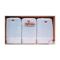 Полотенца махровые(хлопок)Soft Cotton Soft Love 3 шт.