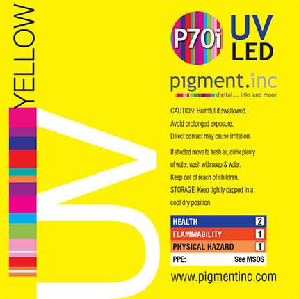 Чернила UV LED P70i PIGMENT.INC™  YELLOW 1 литр, фото 2