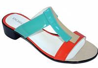 Шлепанцы женские цветные на каблуке 3 см