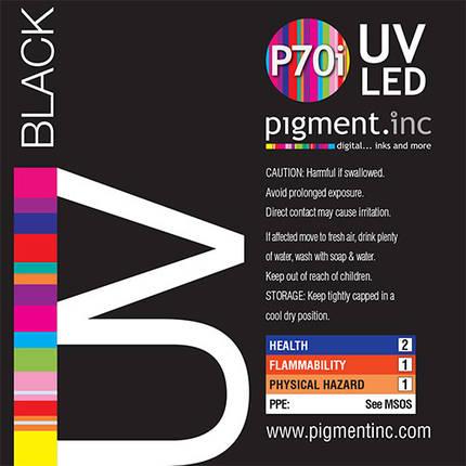 Чернила UV LED P70i PIGMENT.INC™  BLACK 1 литр, фото 2