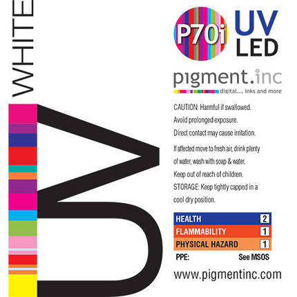 Чернила UV LED P70i PIGMENT.INC™  WHITE 1 литр, фото 2