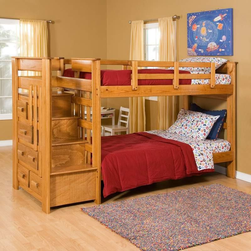 Деревянная кровать двухъярусная с ящиками  «Аврора»
