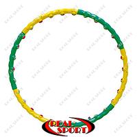 Обруч массажный Hula Hoop FI-358 Color Ball (1,5кг, пластик, 6 секций, d-90см)