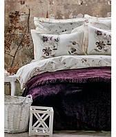 Набор Постельное белье с покрывалом Евро Lucca purple Karaca Home