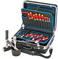 Набор инструментов в кейсе KNIPEX VDE 002105HLS для професионального электромонтажа 24 штуки. Германия