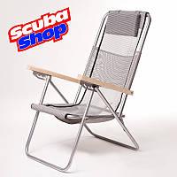 Кресло-шезлонг «Ясень» для рыбалки и туризма, цвет серый, фото 1