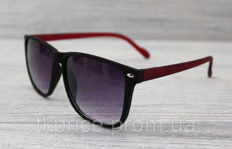 Солнцезащитные очки матовые унисекс черные с флексами