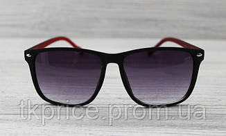 Солнцезащитные очки матовые унисекс черные с флексами, фото 2