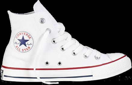 Мужские кеды Converse All Star высокие белые топ реплика, фото 2