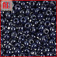 Бисер Чехия 38080 - 50 грамм (тёмно-синий жемчужный)