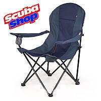 "Кресло ""Директор Лайт"" для рыбалки и туризма, цвет ткани синий, фото 1"