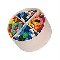 """Игрушка Viga Toys """"Деревянные бусинки"""", детская развивающая игра шнуровка, шнуровка деревянных бусин"""