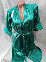 Женский качественный шелковый халат комплект