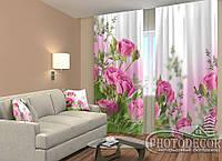 """ФотоШторы """"Розовые розы"""" 2,5м*2,0м (2 половинки по 1,0м), тесьма"""