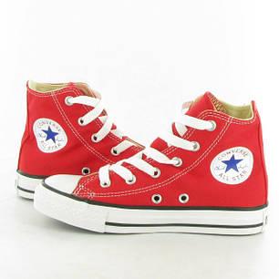 Кеды мужские Converse All Star High красные топ реплика, фото 2