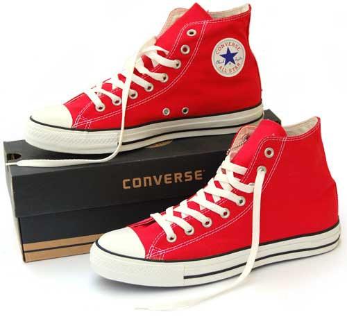 Кеды мужские Converse All Star High красные топ реплика
