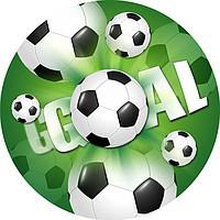 Тарілочки дитячі одноразові футбол 10 шт