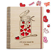 Подарок для любимых - Блокнот Love, фото 1