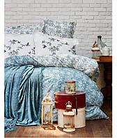 Набор Постельное белье с покрывалом Евро Mathis turquise Karaca Home