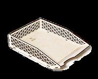Лоток для бумаг горизонтальный настольный - Каштан