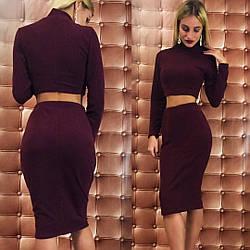 Ангоровый костюм:юбка и топ с длинным рукавом.Ткань ангора.размеры 42 44