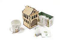 Чайный домик «Амстердам» из фанеры для декупажа и раскраски