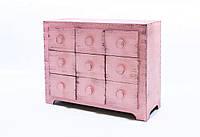 Шкатулка для бижутерии- мини комод Гиперион Розовый