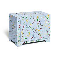 Шкатулка Янус мини-комод с рисунком «Цветные кляксы»