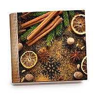Шкатулка-книга на магните с 9 отделениями XL Бадьян, корица и лимоны