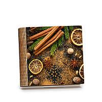 Шкатулка-книга на магните с 9 отделениями Бадьян, корица и лимоны