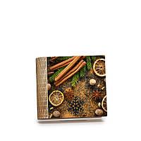 Шкатулка-книга на магните с 4 отделениями Бадьян, корица и лимоны