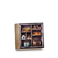 Шкатулка-книга на магните с 4 отделениями Банка кофе, фото 1