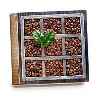 Шкатулка-книга на магните с 9 отделениями XL Зерна кофе
