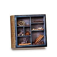 Шкатулка-книга на магните с 9 отделениями Кофе и корица