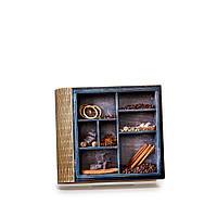 Шкатулка-книга на магните с 4 отделениями Кофе и корица