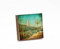 Шкатулка-книга на магните  slim  с 4 отделениями Венецианская пристань