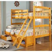 Двухэтажная кровать для детей и подростков Бастилия