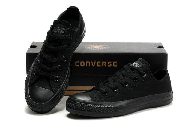 Мужские кеды Converse All Star II mono низкие черные топ реплика