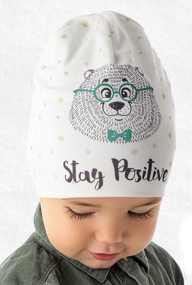 Демисезонная модная шапочка для мальчика от Marika Польша