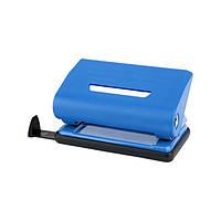 D3610-02 Дырокол пластиковий, 10 листов, синий