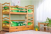 Кровать двухъярусная  с выдвижными ящиками «Афродита»