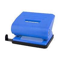 D3616-02 Дырокол пластиковый, 16 лист, синий