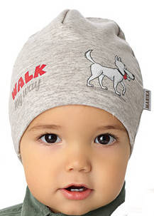 Демисезонная модная шапочка для мальчика от Marika Польша, фото 2