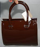 Бордовая каркасная лаковая женская сумка Voila (Wallaby)
