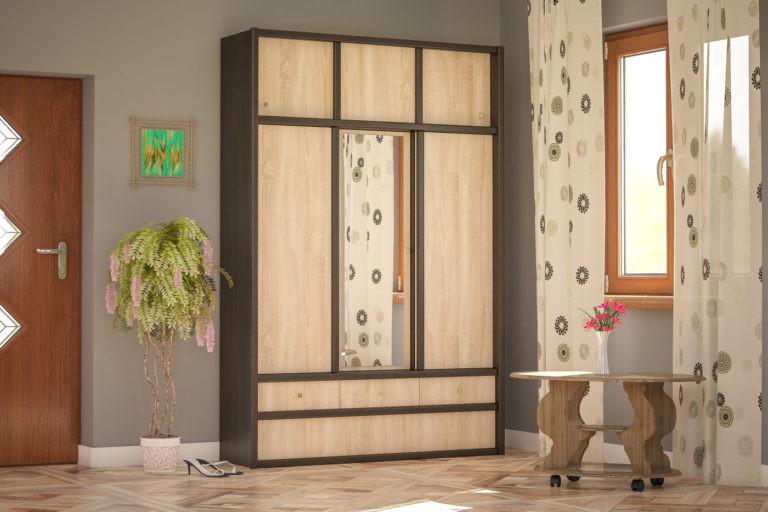 Шкаф в прихожую Мебель-Сервис Соня 2275х1495х445 мм