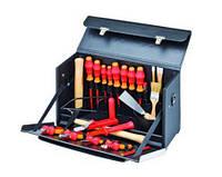 Набор инструментов в кейсе KNIPEX VDE 002103 LS для электромонтажа 24 штуки. Германия