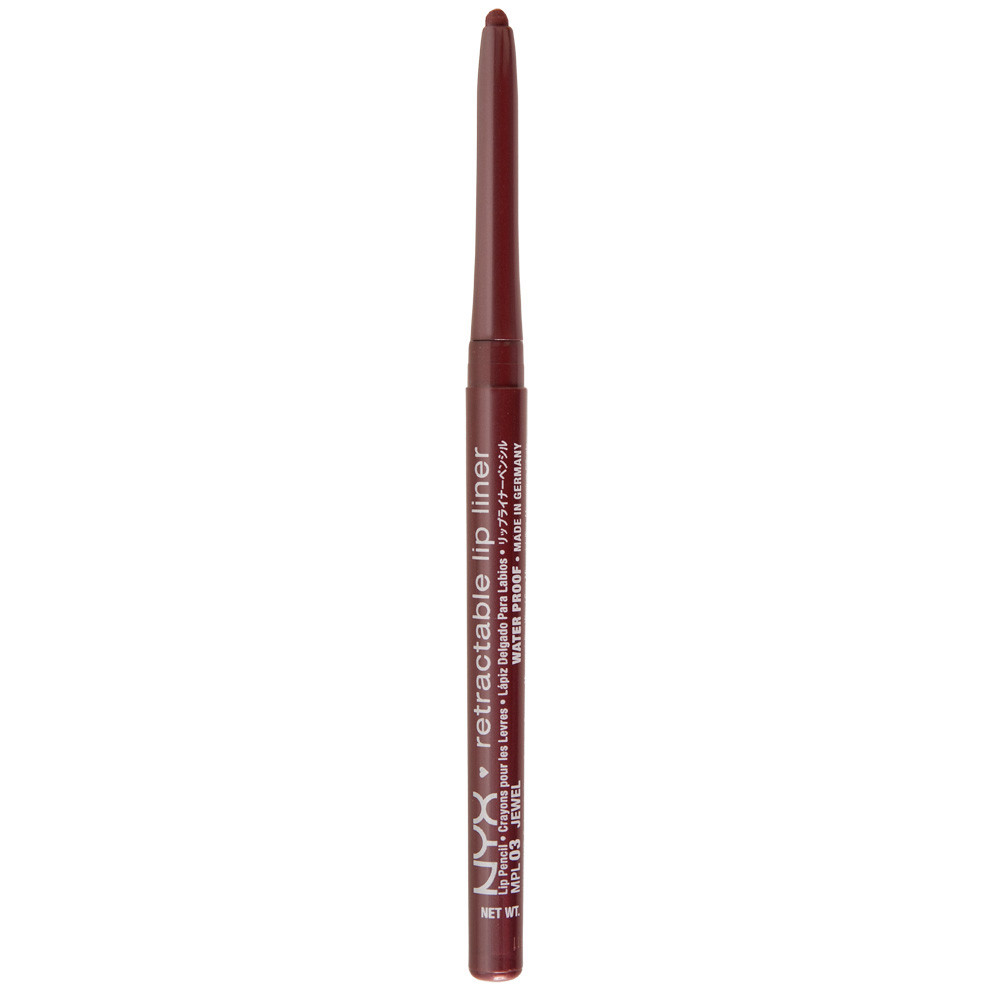 NYX MPL 03 Retractable Lip Liner Jewel - Автоматический карандаш для губ, 0.3 г