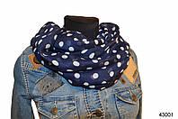 Весенний шарф снуд Алира синий, фото 1