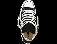 Кеды мужские Converse All Star высокие черно-белого цвета топ реплика, фото 2