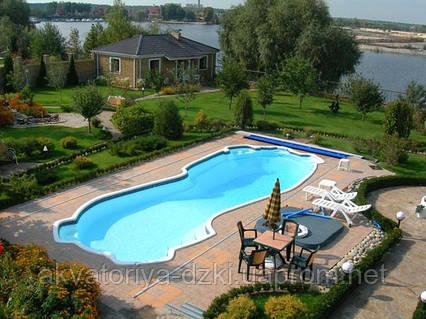 Композитный бассейн Байкал 13,00х5,50м глубиной 1,00-2,50м